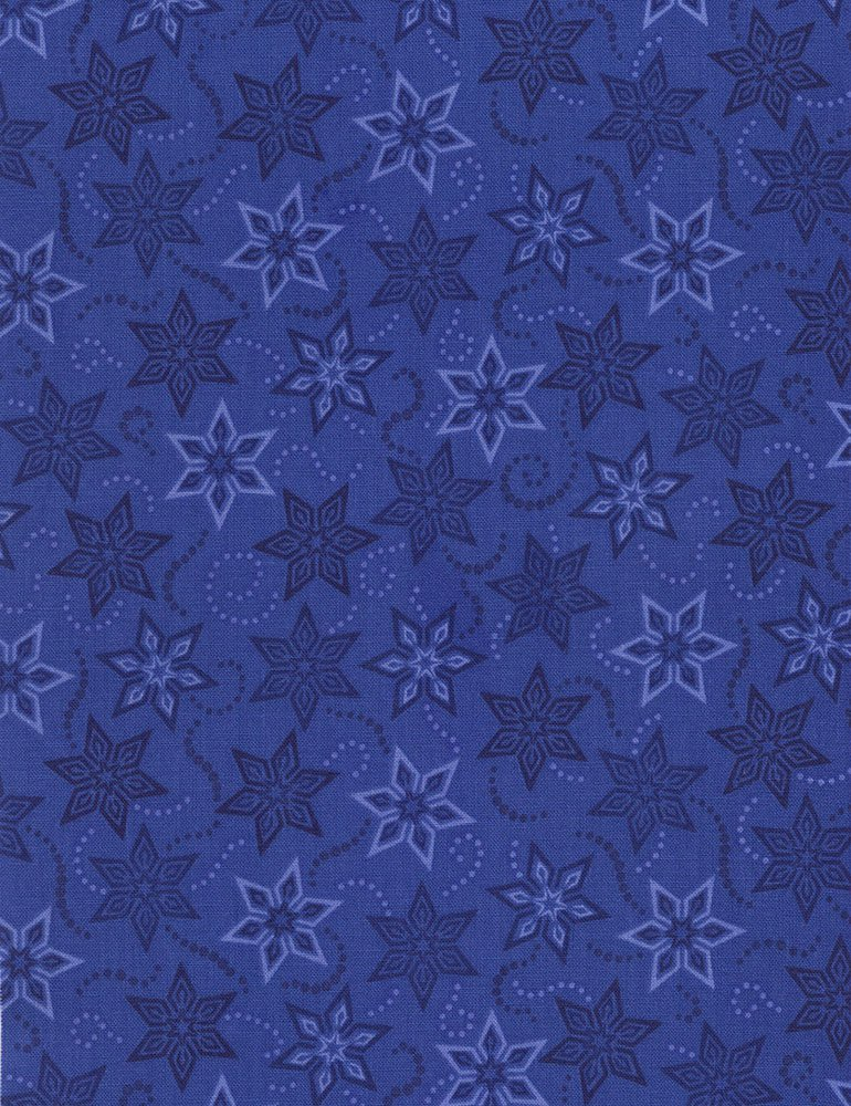 Stars Fabric - Blue Bohemian Blues Collection by Judy & Judel Niemeyer for Timeless Treasures
