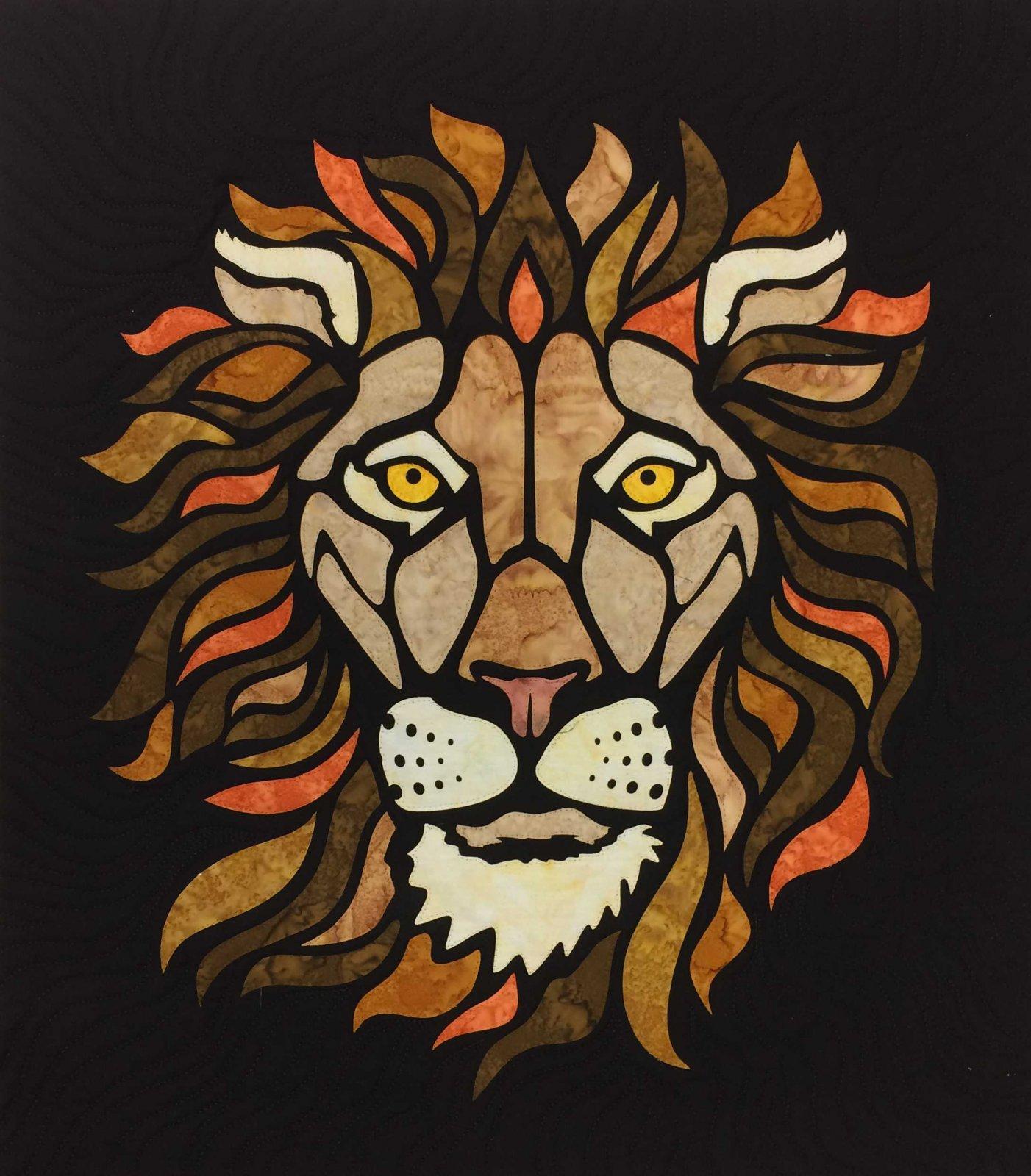 Lion 23 x 26 Sewfari Laser Cut Applique Kit by Westfield Laser Design