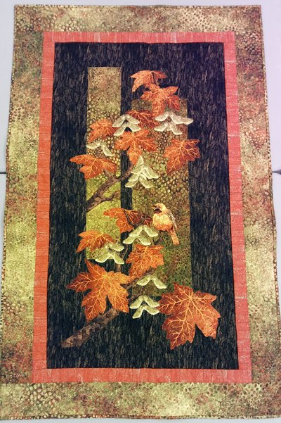 Maplewood Fall Panel Quilt Kit with Maplewood Fabrics by Northcott