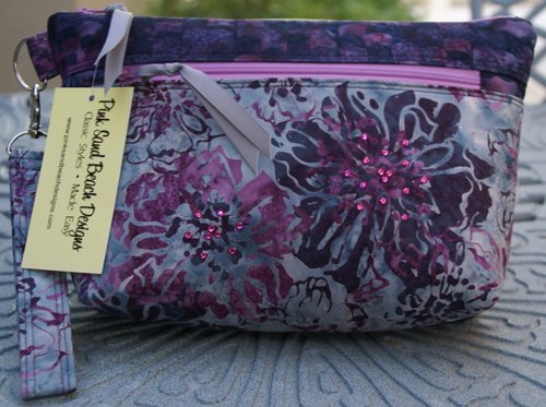 Maui Glam Bag in Royal Amethyst by Pink Sand Beach Designs