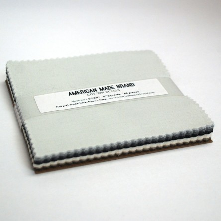 American Made Brand Neutral Solids Fabric 5 Squares by Clothworks