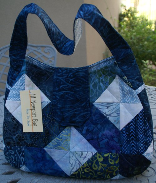Newport Bag in Mystic River by Pink Sand Beach Designs