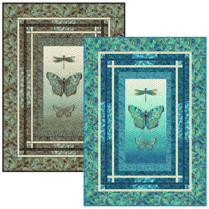 Fantasy Quilt Kit with Fabrics from Northcott & Pattern by Bayou Patch Designs