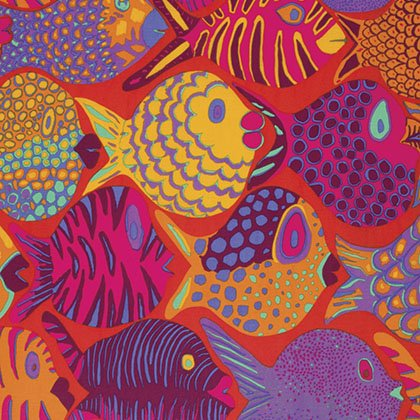 Shoal Fat Quarter - Tomato by Kaffe Fassett for FreeSpirit Fabrics