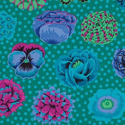 Big Blooms Fat Quarter - Emerald by Kaffe Fassett for FreeSpirit Fabrics
