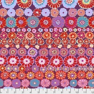 Row Flowers Fat Quarter - Red by Kaffe Fassett for FreeSpirit Fabrics