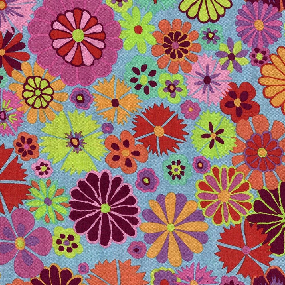 Artisan Folk Flower Fat Quarter - Pink by Kaffe Fassett for FreeSpirit Fabrics