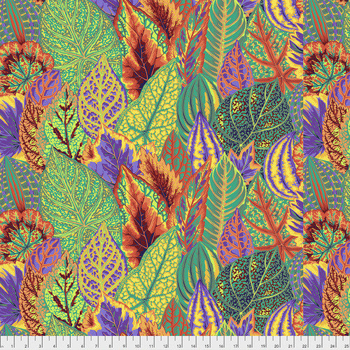 Coleus Fabric - Gold by Kaffe Fassett for FreeSpirit Fabrics