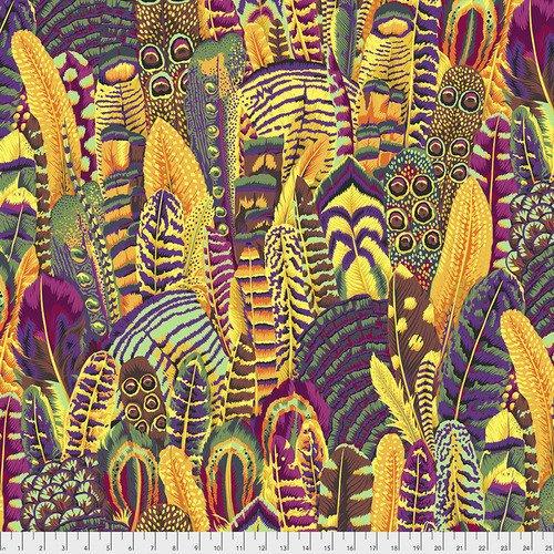 Feathers Fabric - Gold by Kaffe Fassett for FreeSpirit Fabrics