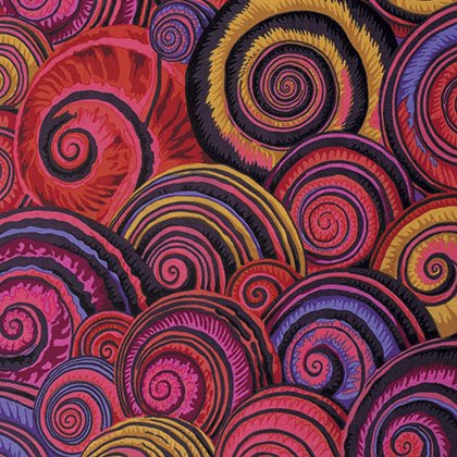Spiral Shells Fat Quarter - Red by Kaffe Fassett for FreeSpirit Fabrics