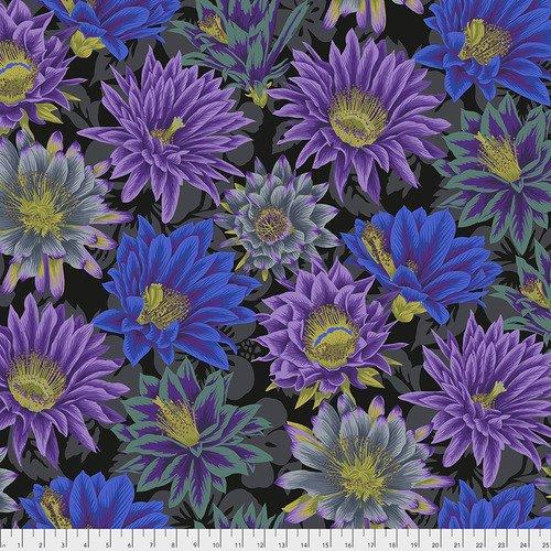 Cactus Flower Fat Quarter - Black by Kaffe Fassett for FreeSpirit Fabrics