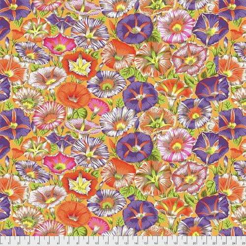 Variegated Morning Glory Fat Quarter - Orange by Kaffe Fassett for FreeSpirit Fabrics