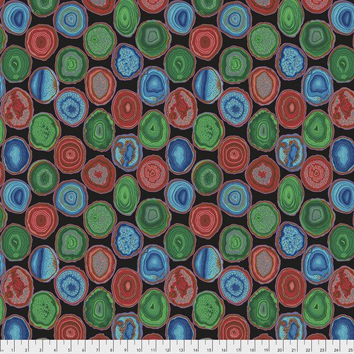 Geodes Fat Quarter - Black by Kaffe Fassett for FreeSpirit Fabrics