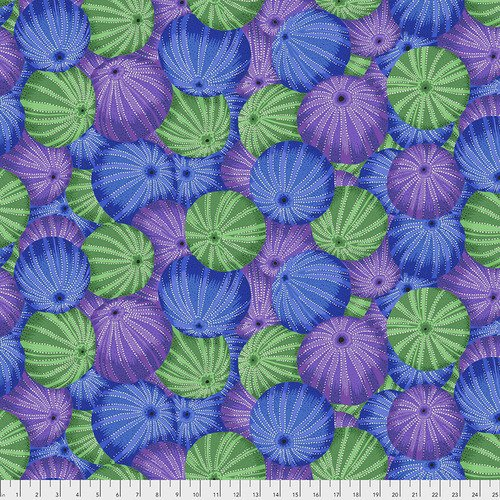 Sea Urchins Fat Quarter - Blue by Kaffe Fassett for FreeSpirit Fabrics