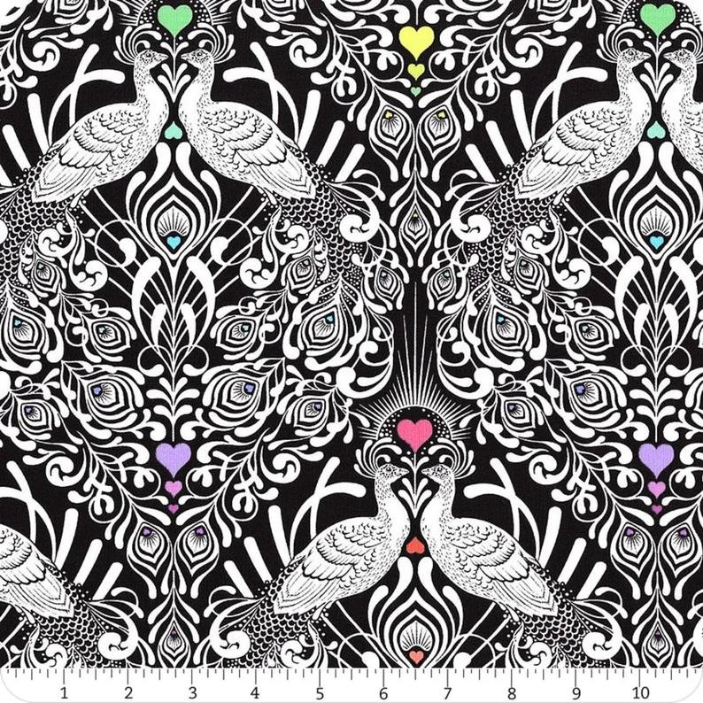 Tall Tails Fabric - Ink Linework Collection by Tula Pink from Free Spirit Fabrics