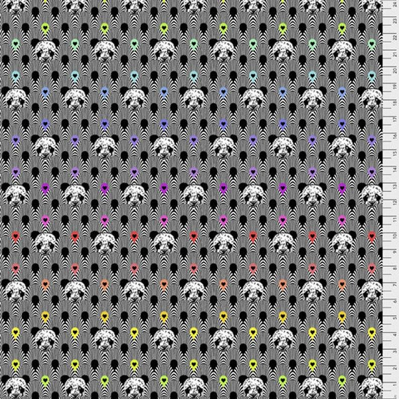 Pandemonium Fabric - Ink Linework Collection by Tula Pink from Free Spirit Fabrics