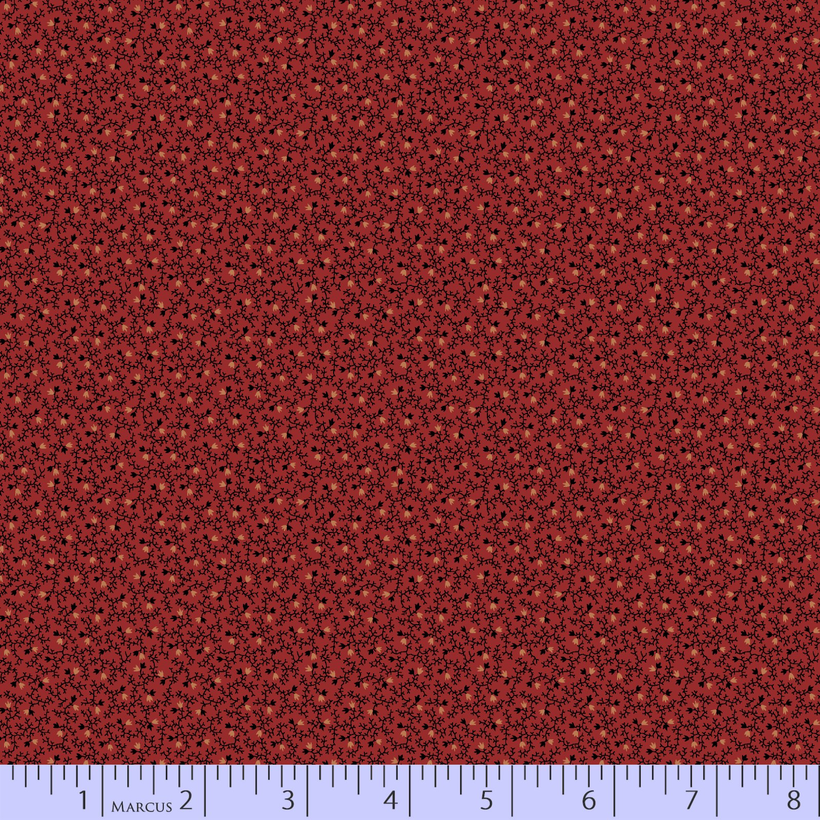 Tiny Floral Fabric - Deep Red Bess's Flower Garden Collection from Marcus Fabrics