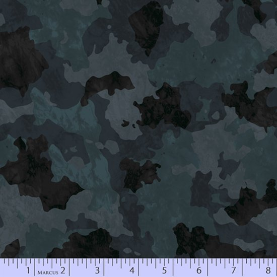 Camo Fabric - Charcoal Incognito Collection from Marcus Fabrics