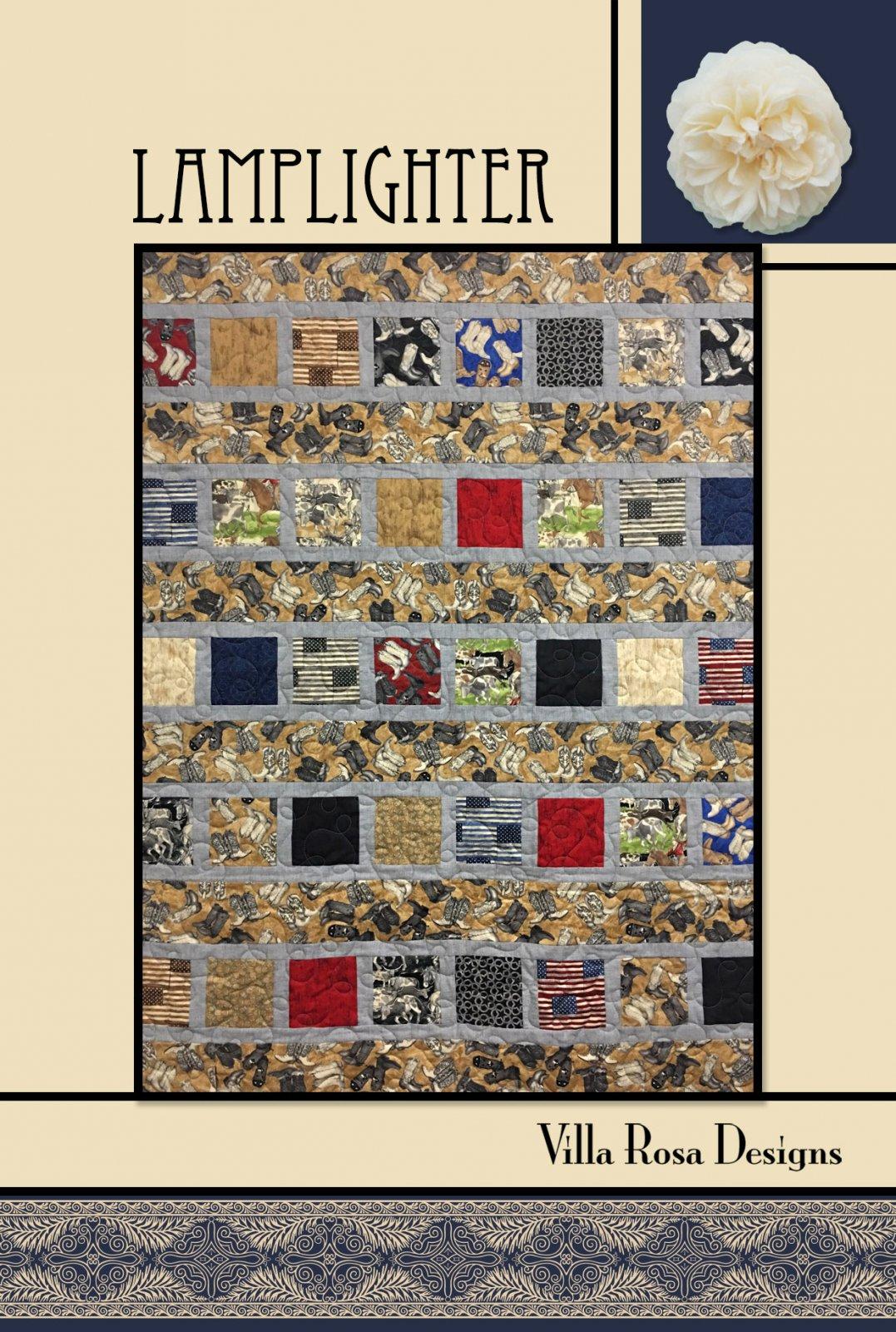 Lamplighter RoseCard Quilt Pattern by Villa Rosa Designs
