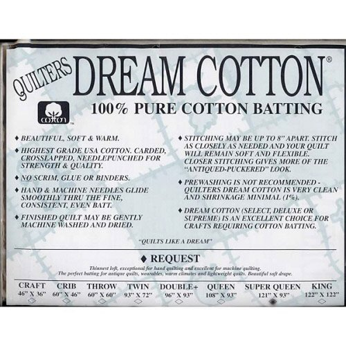 Request Cotton Natural Batting - Super Queen by Quilters Dream Batting