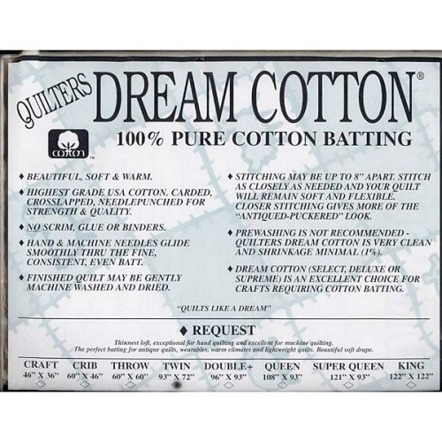 Request Cotton Natural Batting - Twin by Quilters Dream Batting