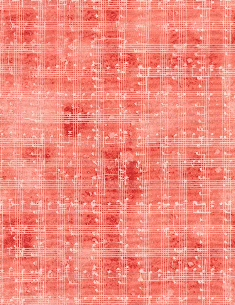 Music Notes Grid Fabric - Red Row by Row Collection by Timeless Treasures