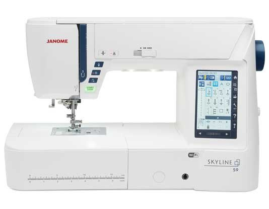 Janome Skyline S9 Indigo Embroidery & Sewing Machine