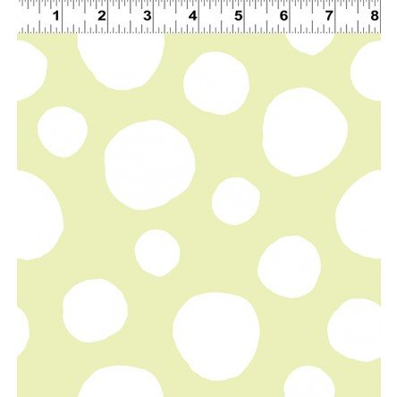 Soft Spot Plush Fabric by Alyssa Thomas of Penguin & Fish - Light Lime from Clothworks