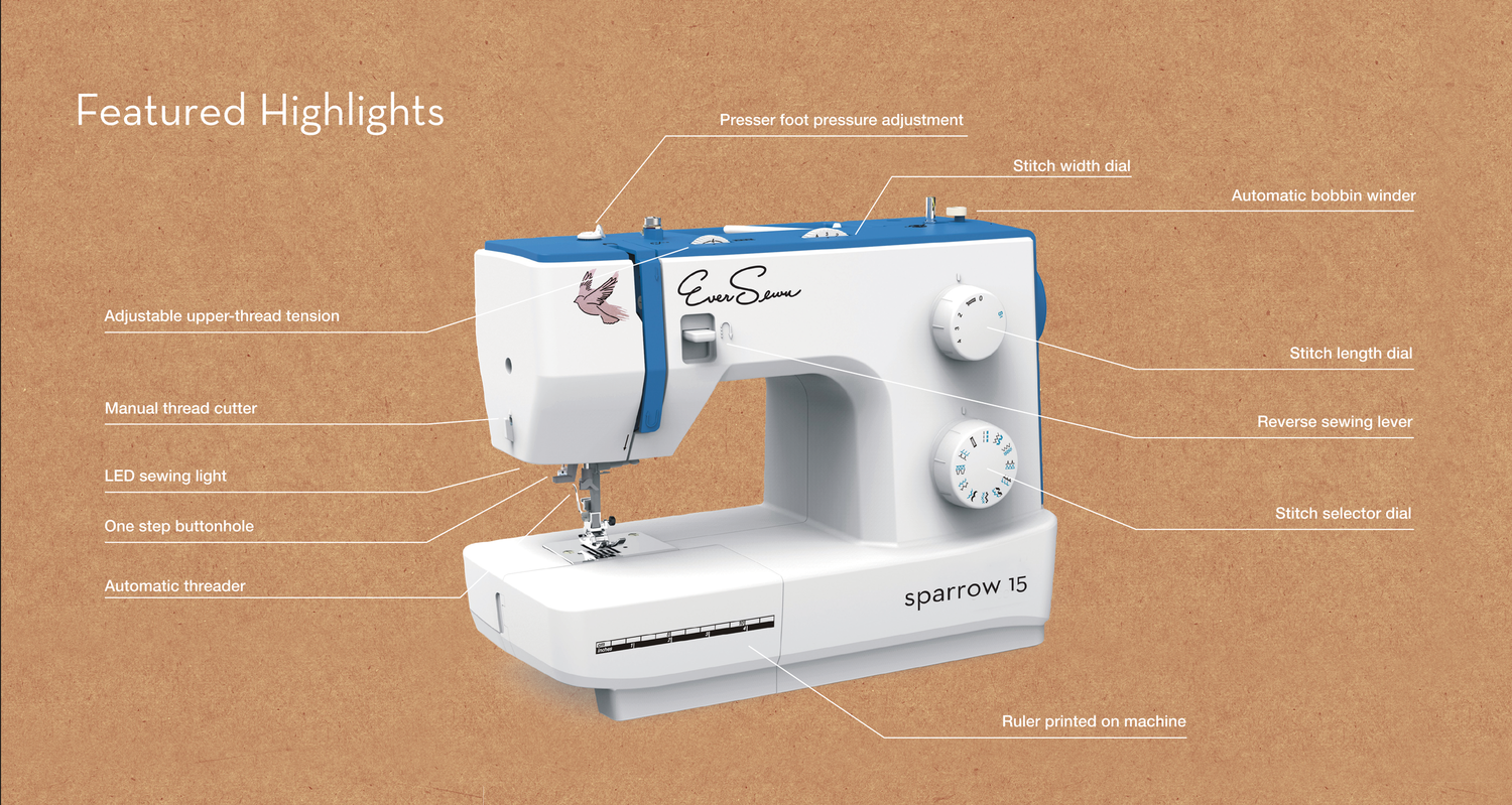Sparrow 15 Sewing Machine by EverSewn