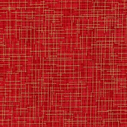 Blender Fat Quarter - Crimson Metallic - Quilter's Linen Collection by Robert Kaufman Fabrics