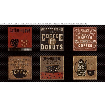 Panel Fabric Espresso Yourself Collection by Dan DiPaolo for Clothworks