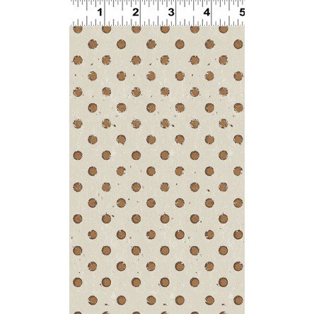 Brown Dots on Cream Fabric Espresso Yourself Collection by Dan DiPaolo for Clothworks