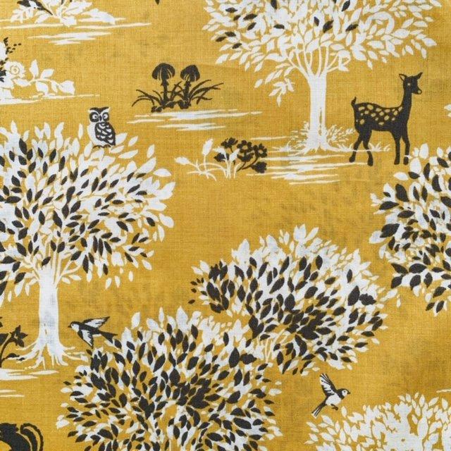 Wonder Forest- Hokkoh- Japanese Cotton Lawn- Woodland- Yellow