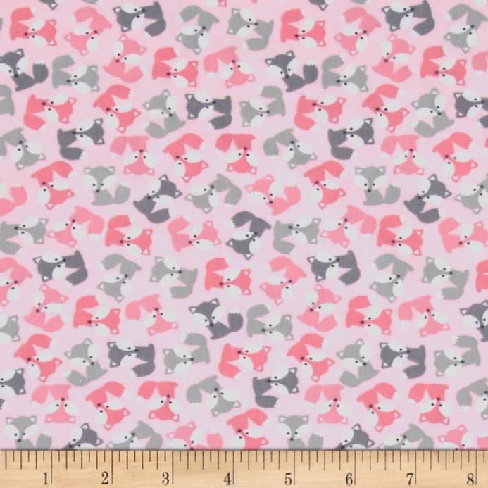 Urban Zoologie- Ann Kelle- Robert Kaufman- Mini Foxes- Pink