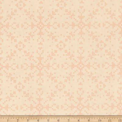 3/4 YARD- Dala- Cross Stitch Flakes- Custard- Rae Rictchie- Dear Stella