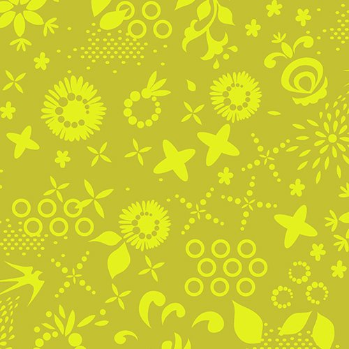 1/2 YARD- Sun Prints- Alison Glass- Corsage- Green