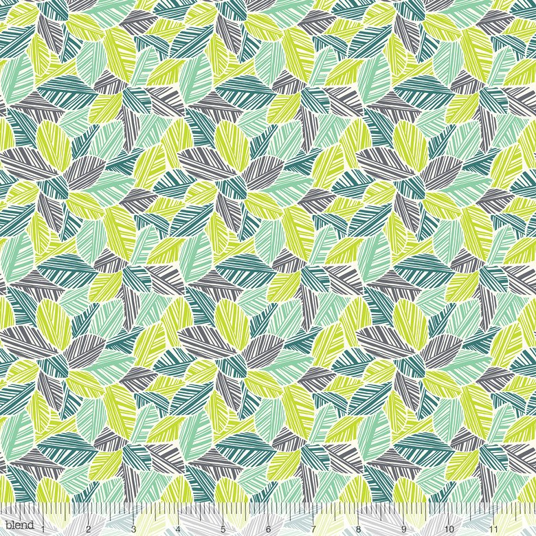 sc 1 st  Circa 15 Fabric Studio & Rainforest Slumber- Canopy Leaves- Green- Katy Tanis- Blend Fabrics