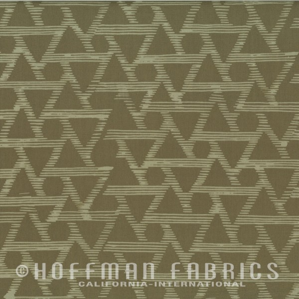 1/2 YARD- Me+You- Hoffman Fabrics- Textured Diamonds- Dune