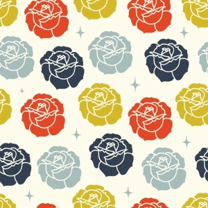 2 3/4 YARDS- Tall Tales- Arleen Hillyer- Stamped Rose Cream