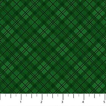 Northwood Flannel- Monochromatic Plaid- Green
