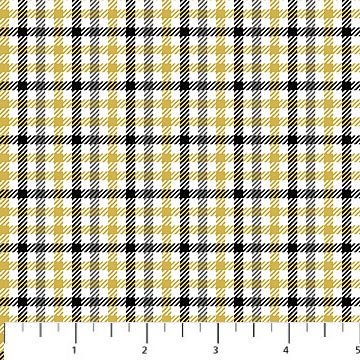Northwood Flannel- Small Plaid- Yellow/Black