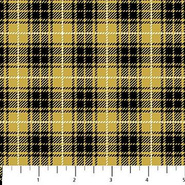 3 7/8 YARDS- Northwood Flannel- Medium Plaid- Yellow/Black