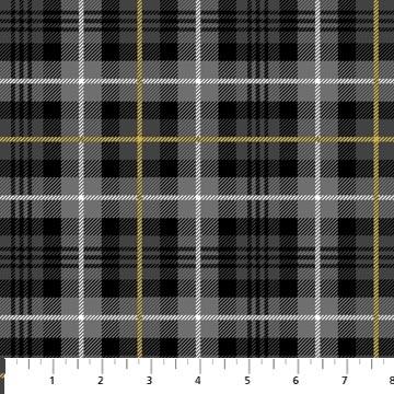 Northwood Flannel- Large Plaid- Black/Grey