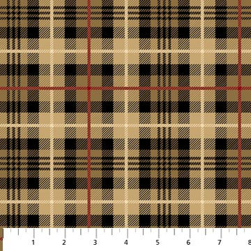 Northwood Flannel- Large Plaid- Beige/Black