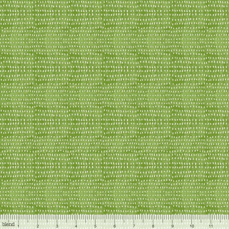 3/4 YARD- Garden Girls - Seeds - Green - Cori Dantini - Blend Fabrics