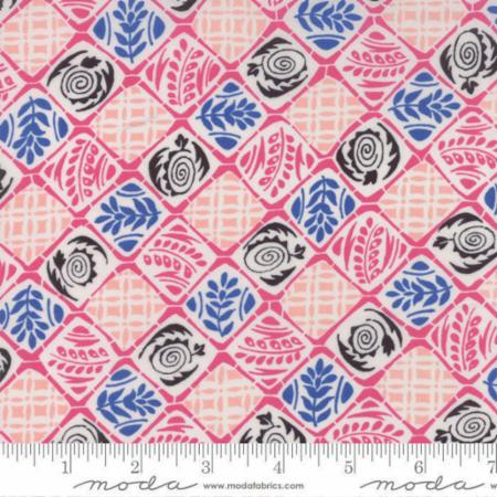 2 YARDS- Moving On Lawns- 18121-13- Ginger Pink- Jen Kingwell- Moda