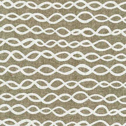 Arroyo Essex Linen- DNA- Yarn Dyed Olive- Erin Dollar- Robert Kaufman