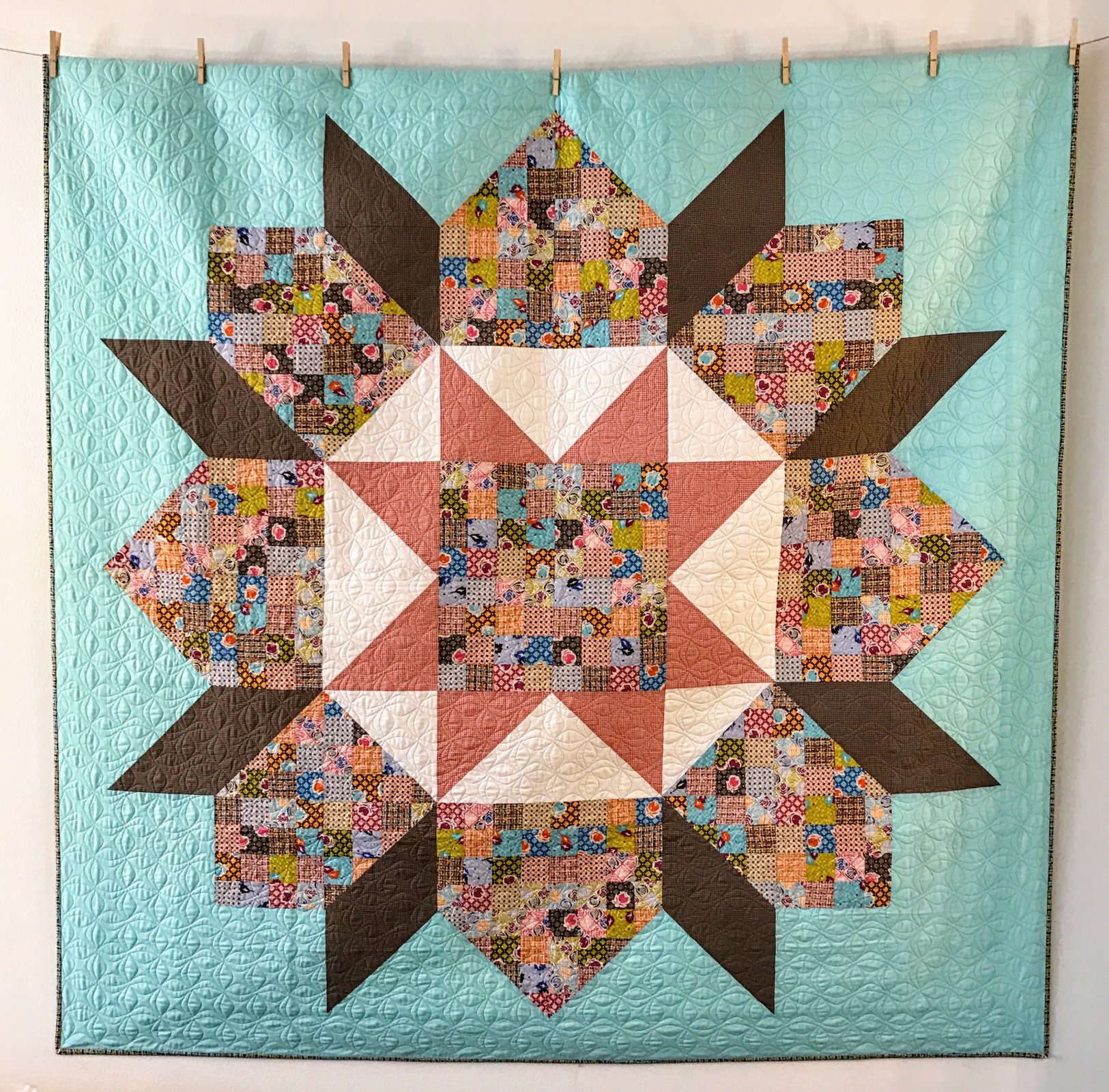 Patchwork Swoon Quilt Kit- Moving On Lawns