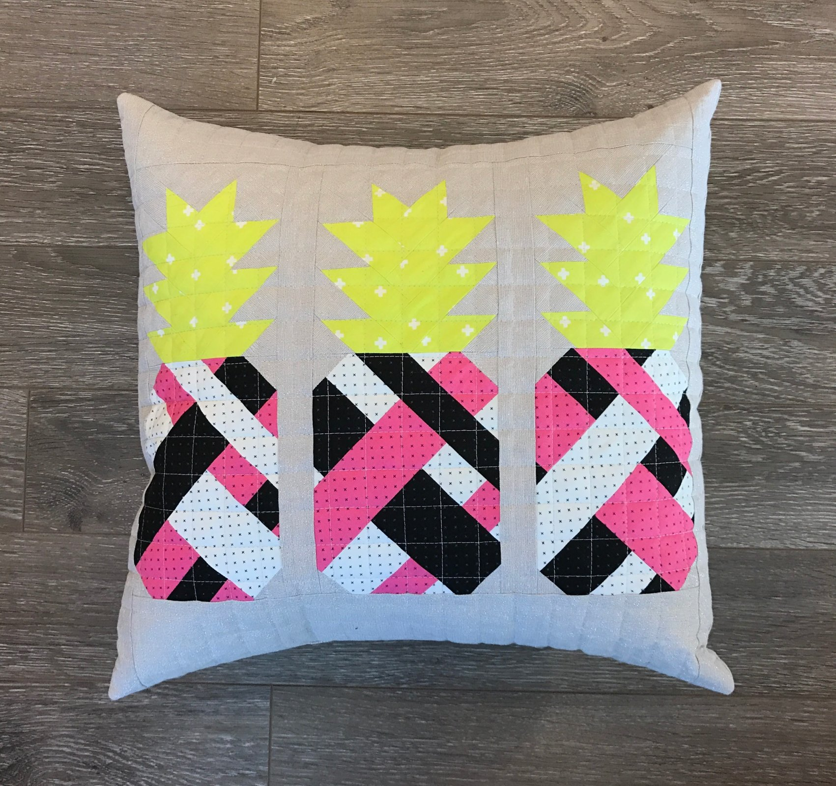 Pineapple Farm Pillow Kit- Cotton + Steel