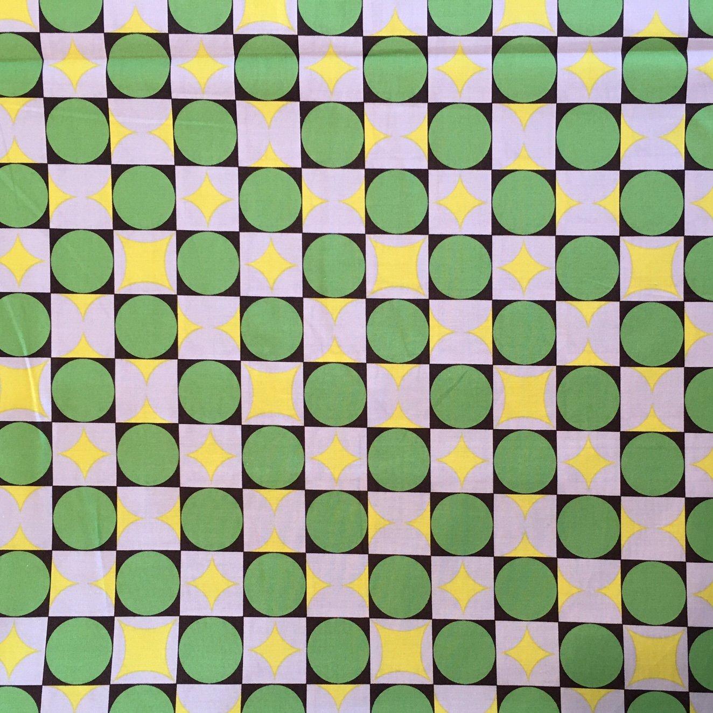 7/8 YARD- Yoko Okamoto Collection- Green/Yellow- Yuwa